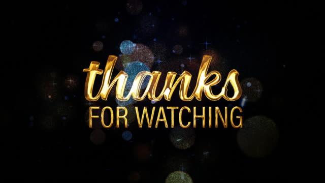 感謝您觀看電影標題預告片背景與光學耀斑爆炸和美麗的散景和粒子光。4k 3d 視頻覆蓋您的項目的戲劇性預告片標題背景。 - thank you background 個影片檔及 b 捲影像