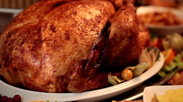thanksgiving turkey dinner - sweet pie stock videos & royalty-free footage