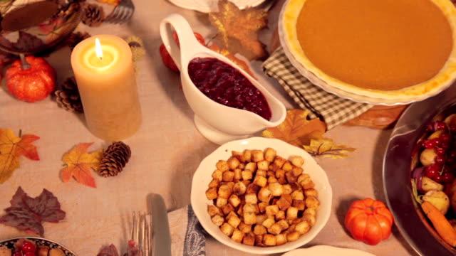 thanksgiving-truthahn - portion stock-videos und b-roll-filmmaterial