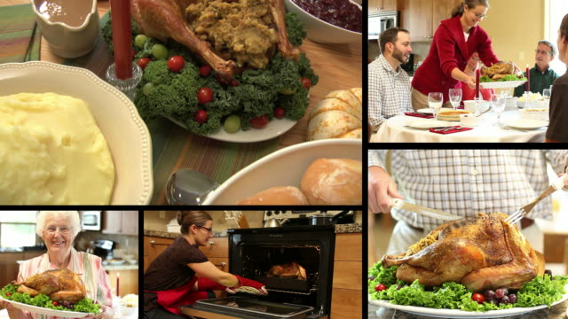 Thanksgiving Turkey Dinner, Video Montage video
