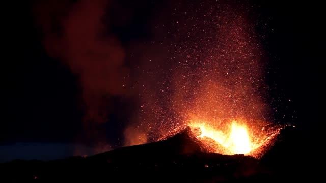 die eruptionen des eyjafjallajökull im jahr 2010 waren vulkanische ereignisse am eyjafjallajökull in island, die zwar relativ klein für vulkanausbrüche waren, aber enorme störungen des flugverkehrs durch west- und nordeuropa verursachten. - vulkan stock-videos und b-roll-filmmaterial