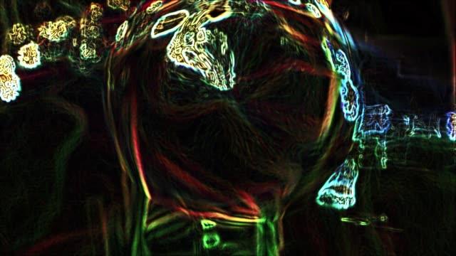 den abstrakta rörelsen av termiska och energi vågor - wheel black background bildbanksvideor och videomaterial från bakom kulisserna