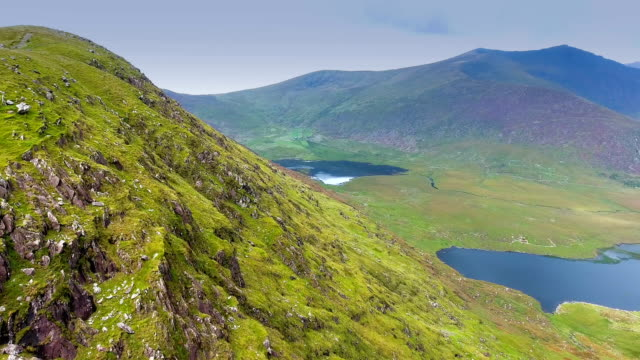The aerial view from the SkyRoad in Ireland video