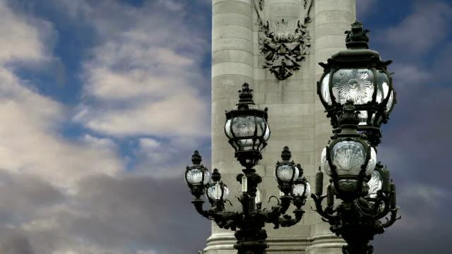 The Alexander III bridge - Paris, France The Alexander III bridge - Paris, France us coin stock videos & royalty-free footage