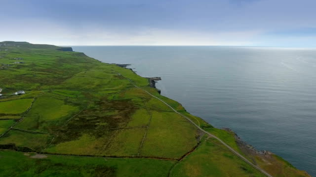 The amazing landscape view of the Cliffs of Moher video