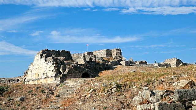 hd : 古代都市'miletus' - プリエネ点の映像素材/bロール