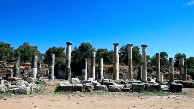 hd : 古代都市'nysa (caria )」南アゴラ - プリエネ点の映像素材/bロール