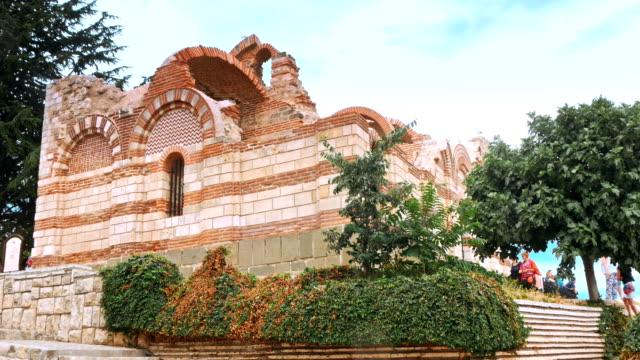 the ancient city of nesebar is a unesco - jesus christ filmów i materiałów b-roll