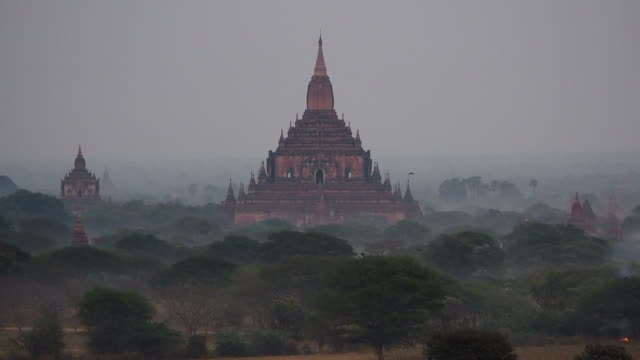 The Ancient Sulamani Temple in Bagan, Myanmar (Burma) The ancient temple of Sulamani in the morning mist, Bagan, Mandalay Region, Myanmar (Burma). bagan stock videos & royalty-free footage
