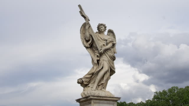 The Angel with the Cross in Rome, Italy video