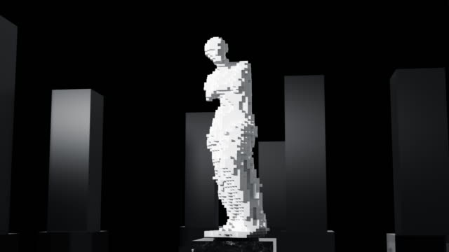The Appearance Of Aphrodite From 3D Pixels