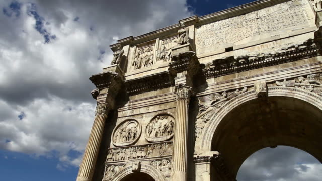 the arch of constantine oder arco di costantino - platin stock-videos und b-roll-filmmaterial