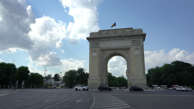 The Arch of Triumph in Bucharest video
