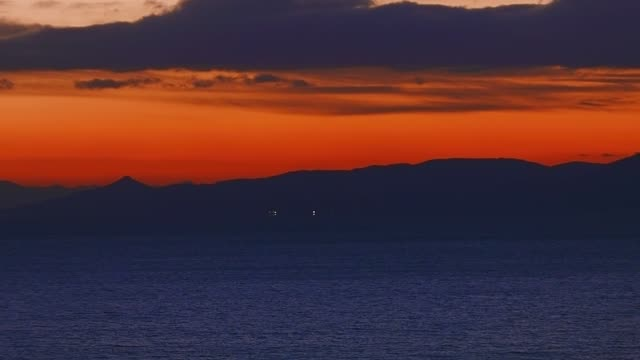 The Argosaronikos gulf in Athens, Greece and the Pireas port at sunset video