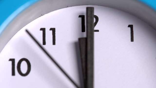 The arrows on the clock. Close-up video