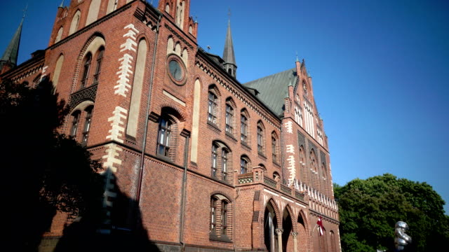 the art academy of latvia in summer sunny day, is an institution of higher education and scientific research in art, located in riga, latvia. - science research stock videos & royalty-free footage