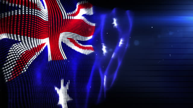 the australian flag - background loop (full hd) - full hd format 個影片檔及 b 捲影像