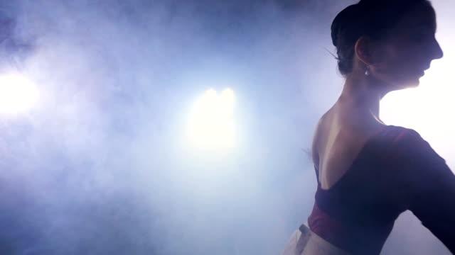 die ballerina tanz. steadicam. slow-motion. silhouette. hd. - ballettröckchen stock-videos und b-roll-filmmaterial