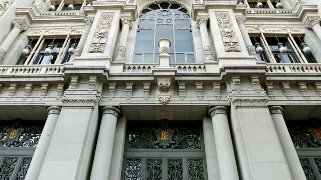 The Bank of Spain - Banco de Espana in Madrid video
