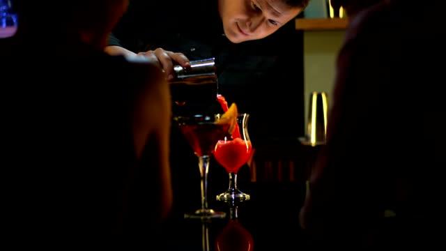 HD: The Bartender Making Cocktails