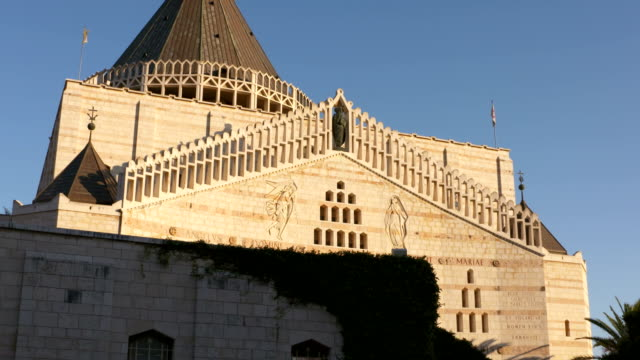 The basilica of the annunciation in Nazareth video