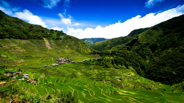 The Batad Rice Terraces time lapse The Batad Rice Terraces in Banaue , Ifugao province  Phillippines banaue stock videos & royalty-free footage