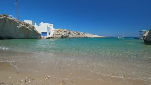 stranden i mitakas i milos, grekland - egeiska havet bildbanksvideor och videomaterial från bakom kulisserna