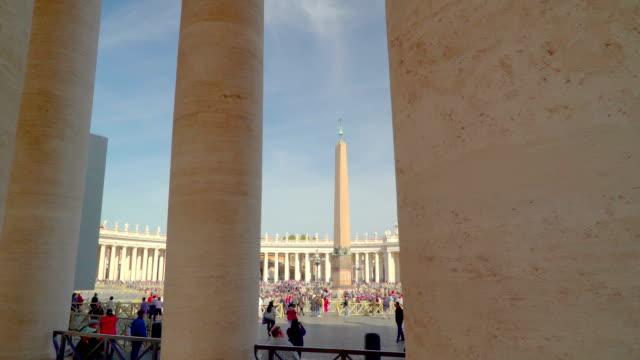 strålen av templet i basilikan i vatikanen rom italien - påve bildbanksvideor och videomaterial från bakom kulisserna