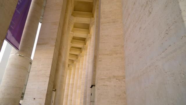 bazilikası vatikan roma i̇talya demeti - vatikan şehir devleti stok videoları ve detay görüntü çekimi