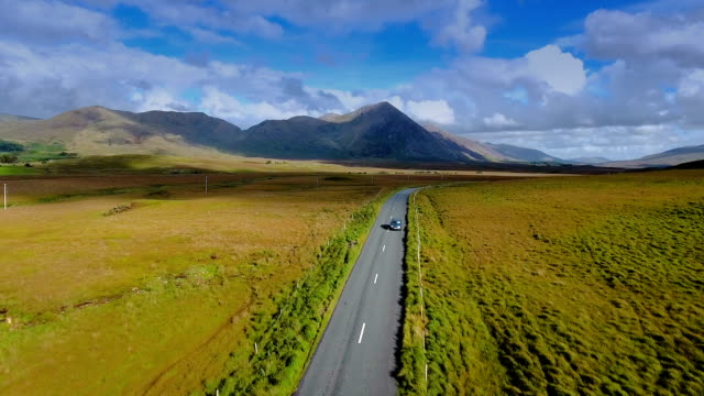 The beautiful landscape view of the Connemara village video