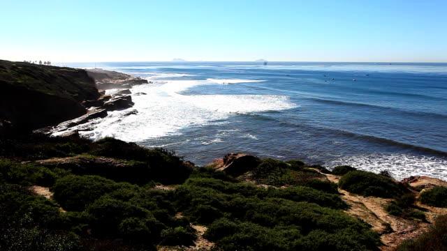 la bellissima costa del pacifico vicino a san diego - antsiranana video stock e b–roll