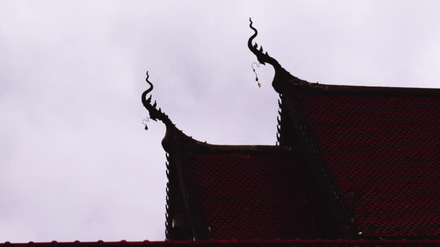 The Beautiful roof of temple in thailand video