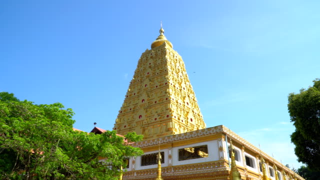 the beautiful scenery of temple - wat video stock e b–roll