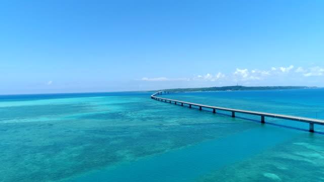 the beautiful seascape at okinawa in japan - ultra high definition television filmów i materiałów b-roll