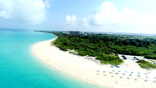 the beautiful seascape at Okinawa in Japan - video