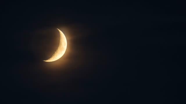the beautiful view on the bright moon - рельефная резьба стоковые видео и кадры b-roll