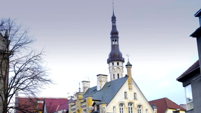 The bell tower of the Niguliste church video