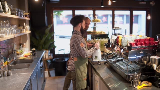the best coffee is in our town - barista stock videos and b-roll footage