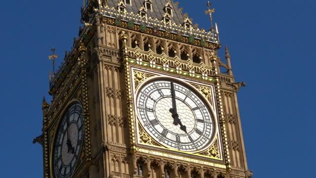 The Big Ben clock tower in London England UK video
