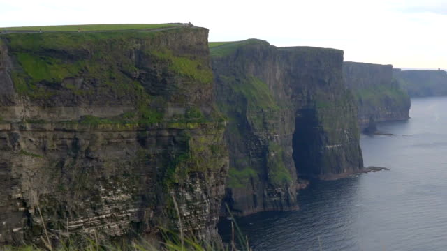 The big cliffs of the Cliffs of Moher in Ireland video