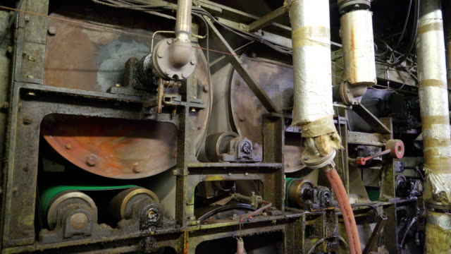 Rapina エストニアの製紙工場内大圧延機 ビデオ