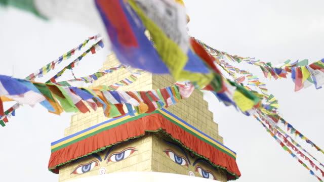 カトマンズ、ネパール最大の仏塔ボダナート。 - ネパール人点の映像素材/bロール