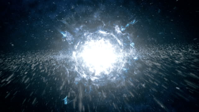the birth of the universe in space, a big bang - big bang video stock e b–roll