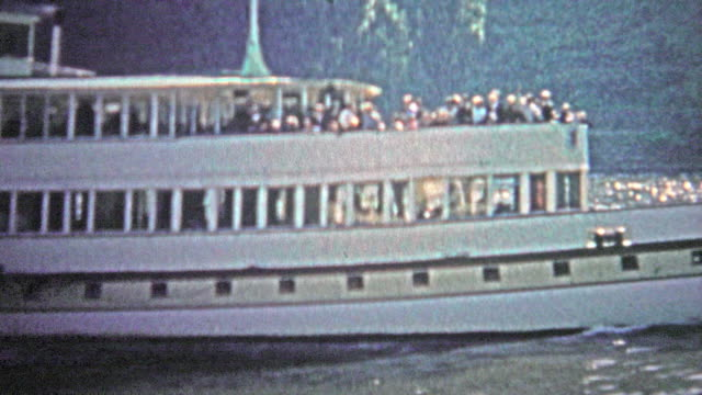 COLOGNE, GERMANY - 1966: The bismark boat cruising up and down the Rhein River for tourists. video