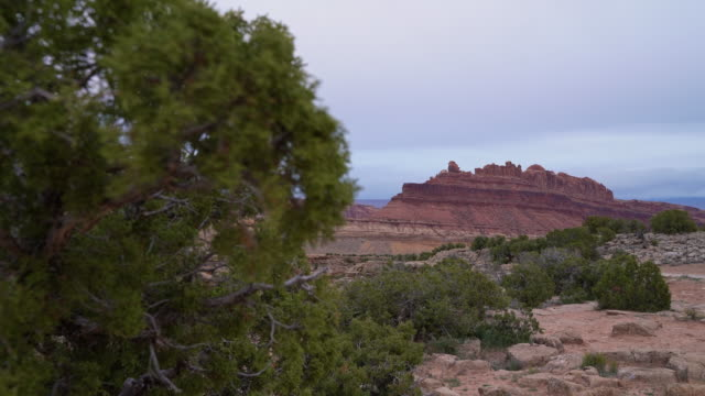 The Black Dragon Canyon, Utah, USA, in the early spring. Static camera, focus rack from background to foreground.