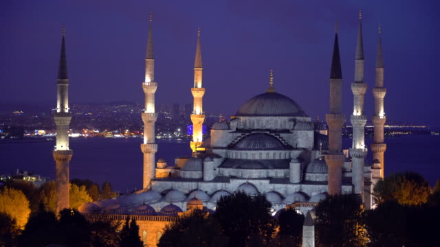 The Blue Mosque - Sultanahmet Camii at night time. Istanbul, Turkey.