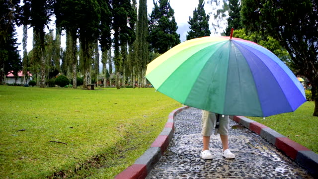 The boy under the rainbow umbrella video
