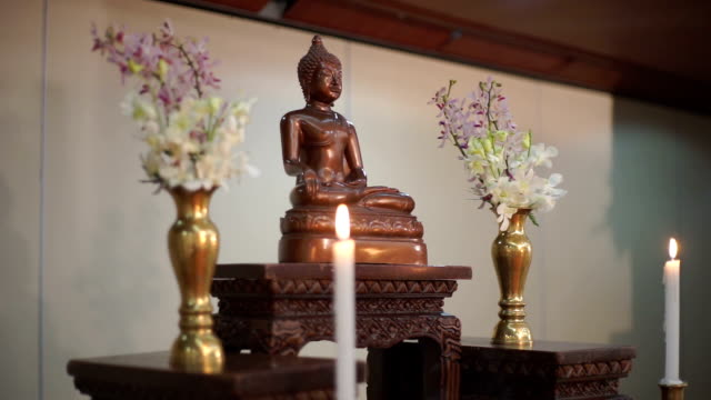 The Buddha Statue decoration Thai Wedding video