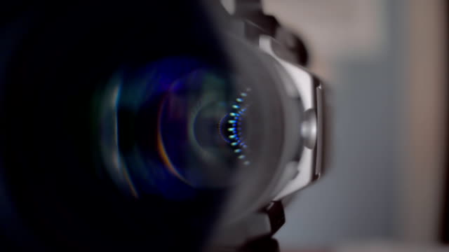 The camera turns around and shoots you. Closeup video