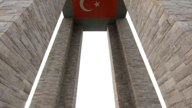 The Canakkale Martyrs Memorial is a war memorial commemorating the service of about Turkish soldiers who participated at the Battle of Gallipoli. Canakkale, Turkey - October.04, 2015 : The Canakkale Martyrs Memorial is a war memorial commemorating the service of about Turkish soldiers who participated at the Battle of Gallipoli. çanakkale province stock videos & royalty-free footage